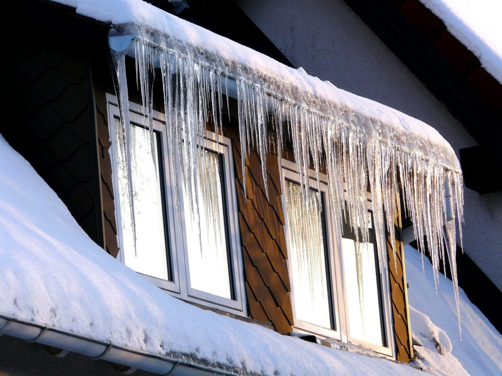 Ice dams can cause mould growth, often in attics.